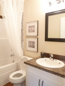 Two bedroom townhouse bathroom.